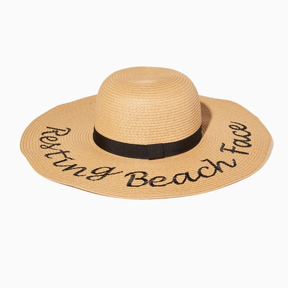 Charming Charlie Accessories - Charming Charlie Resting Beach Face Floppy  hat 499ba2e637c